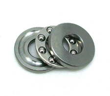 Miniature thrust bearing with grooved washers