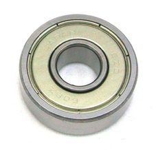 A chrome steel miniature bearing with shields