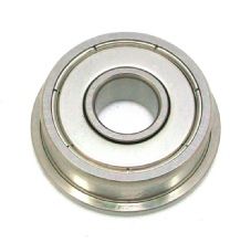 Imperial flanged miniature bearing with shields