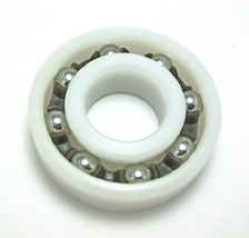 Plastic bearing with stainless steel balls